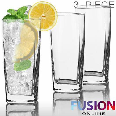 Tumblers Glasses Set Drinking 280 Ml Highball Style Glassware Juice Party Drinks