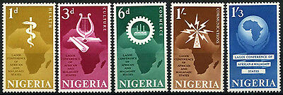 Nigeria 1962 SG#111-115 Lagos Conference MH Set #D55667