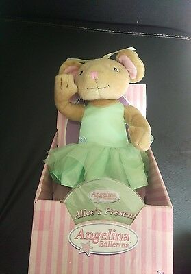 Vintage Angelina Ballerina poseable doll with Alice's present DVD