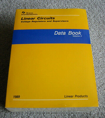 Texas Instruments 3 Data Book Set - 1989 Linear Circuits