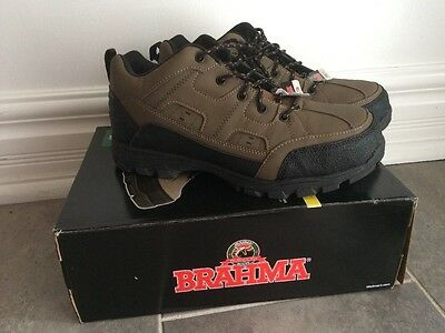 Men's Brahma Ray Steel Toe Taupe Brown Work Boots Size: 11 NEW