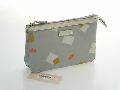 Radley Brand New Granary Square Triple Section Cosmetic Bag In Oilskin  RRP £35