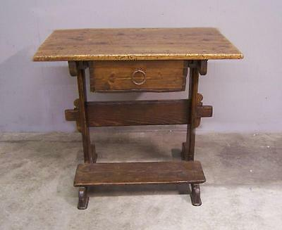Continental pine rent table with drawer 1750