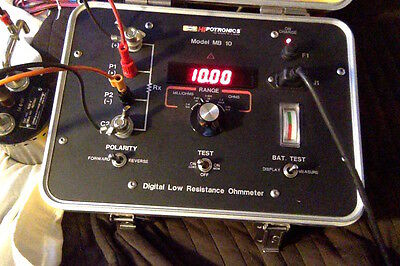 Hipotronics Hubbell MB10 Low Resistance Ohmmeter