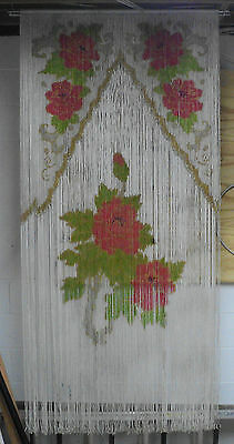 Antique Vintage One Of A Kind Beaded Door Curtain