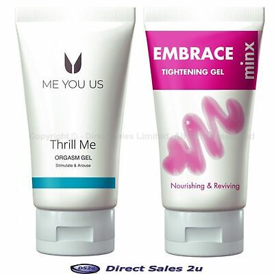 Minx Thrill Me Orgasm Gel or Embrace Tightening Gel White 50ml Enhance Stimulate