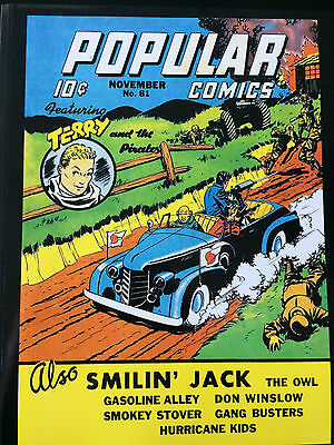 Popular Comics #81 REPRINT EDITION-OWL-TERRY & PIRATES-SMILIN' JACK Nov. '42