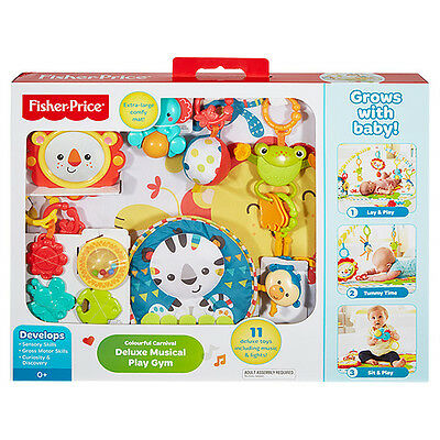 NEW Fisher-Price Colourful Carnival Music & Lights Deluxe Play Gym