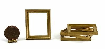 Dollhouse Miniature Set of 4 Gold Picture Frames