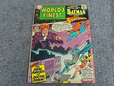 "World's Finest Comics #160 (1966) ""Fatal Forecasts of Dr. Zodiac!"" * 7.0 * FN/VF"
