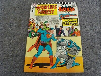 "World's Finest Comics #163 (1966) ""The Court of No Hope!"" * 7.5 * VF- *"