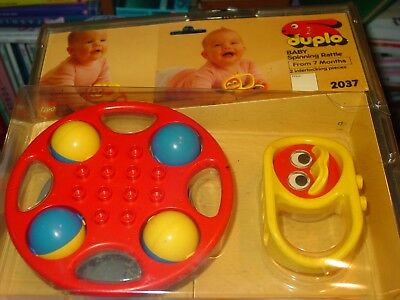 Vintage Mint In Box Duplo Lego Baby Spinning Rattle 2037