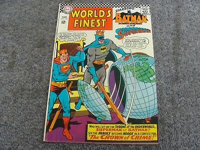 "World's Finest Comics #165 (1967) ""The Crown of Crime!"" * 7.5 * VF- *"