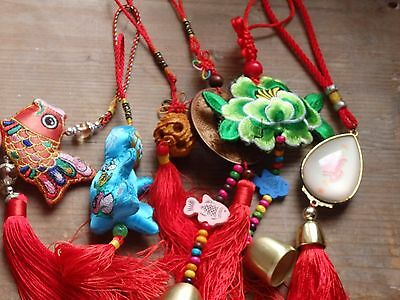 Chinese lucky charm ethnic tribal key ring gift house decoration bags fengshui