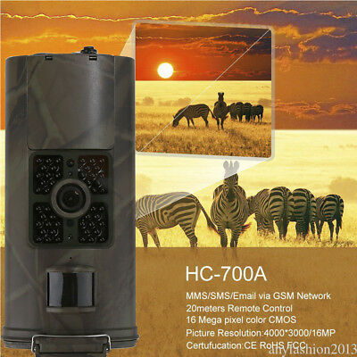 HC-700A HD 16MP Hunting Trail Digital Animal Camera 940nm Scout Infrared GSM new