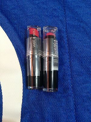 2x Wet N Wild (WetnWild) Color Icon Lipstick - Smokin' Hot Pink & Coral-ine