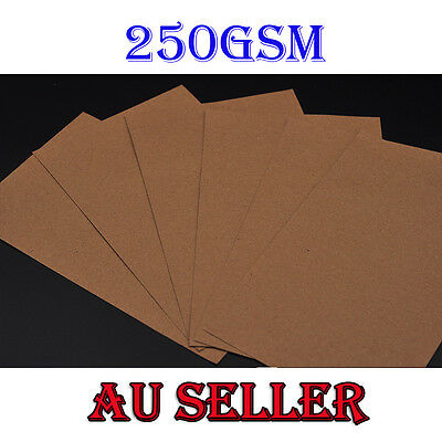 Bulk 10-100  250gsm KRAFT CARDSTOCK Brown Kraft Paper Card Making Premium