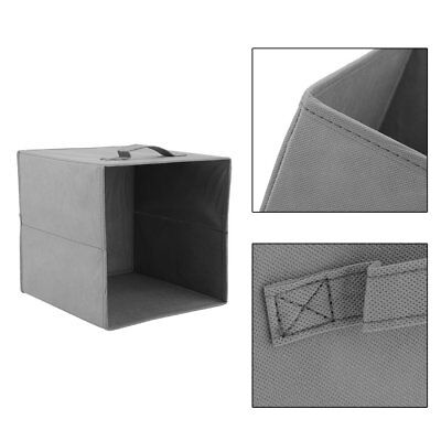 8 x LARGE FABRIC CUBES SQUARE CANVAS FOLDABLE STORAGE BOX COLLAPSIBLE HOME UNIT