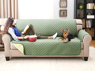 Sage Sofa Couch Cover For Dogs Deluxe Reversible Furniture Protector