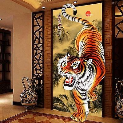 DIY Vivid Tiger Round Diamonds Embroidery 5D Diamond Painting Cross Stitch Kits
