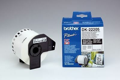 Brother DK-22205 P-touch Continuous Paper Labels 62mm x 30.48m Genuine
