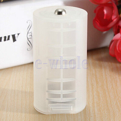 2 X 2AA To D Size Battery Cell Converter Adapter Adaptor Holder Case WS