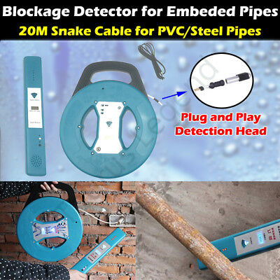 Embedded PVC Steel Sewer Pipe Blockage Detector Locator Sensor 20M Snake Cable