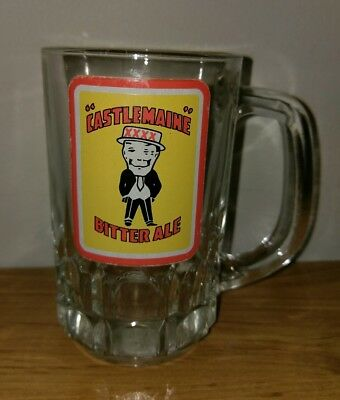 Vintage Collectable Castlemaine XXXX Bitter Ale Beer Glass Mug