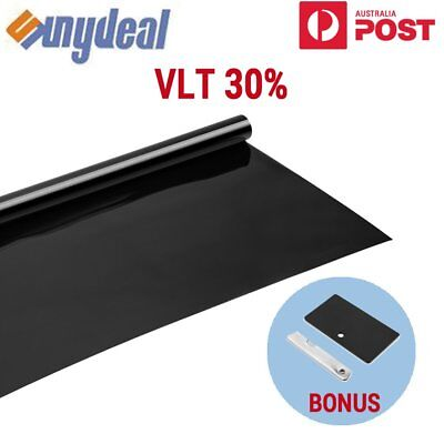 Car Home Window Tint Film Black Roll 30% VLT 760mm*7m + Window Tinting Tools Kit