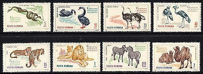 Romania 1964 Bucharest Zoo Complete Set of Stamps MNH