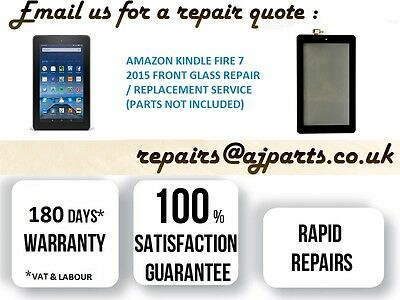 Amazon Kindle Fire 7 5th Gen Touch Digitizer Front Glass Replacement Service UK