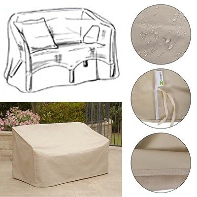 Patio High Back Loveseat Bench Cover Waterproof Protector Furniture Garden