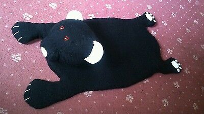 Hand knitted bear rug