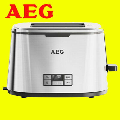 AEG AT7800-U 7 Series 2 Slice Stainless Steel Digital Toaster