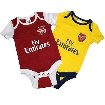 Arsenal 2 Pack Bodysuit 6 / 9 Months DR Baby Gunners Gift Fan Official Licensed