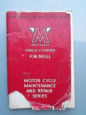 Old Vintage / Classic Matchless 350 - 500 Repair Manual/book From 1945 To 1960