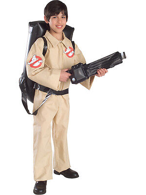 Child Boys Ghostbusters Costume Official Ghostbuster Halloween Fancy Dress New
