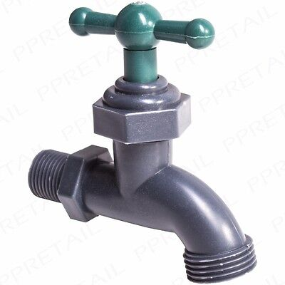 STRONG EASY FIT UNIVERSAL GARDEN TAP Plastic Screw Connector Hose Pipe Fitting