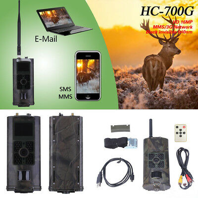 HC700G Hunting Camera 16MP 1080P Night Vision Trail Cam Trap 3G GPRS MMS SMS New