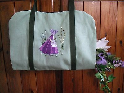 Hand Embroidered Crinoline Lady Flower carrier - new