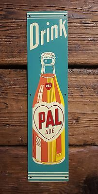 NOS Drink Pal Ade Orange Soda Tin Sign Screen Door Palm Push Bottle Cola Crush