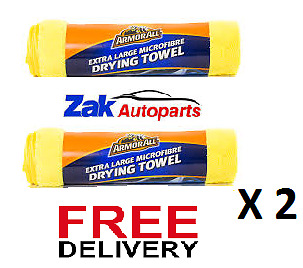 Armor All Extra Large Microfiber Drying Towel Cloth X 2