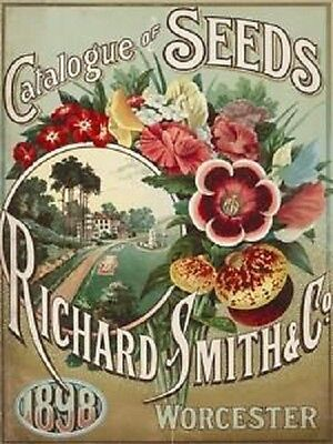 New 15x20cm Smith Seed Catalogue reproduction vintage metal advertising sign