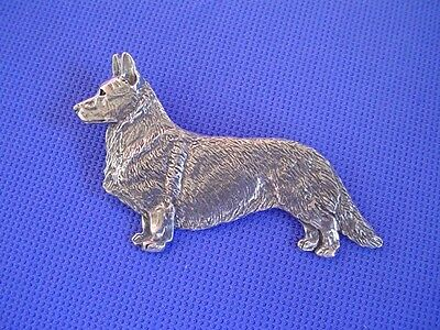 Cardigan Welsh Corgi Standing Pewter  #55A pewter dog jewelry by Cindy A. Conter