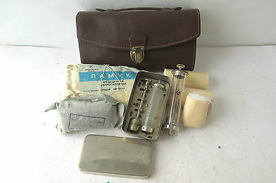 Vintage small Medic Doctor leather bag marked INCO