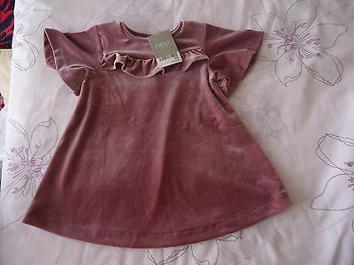 Next baby girl velvet top / dress NWT 6-9M