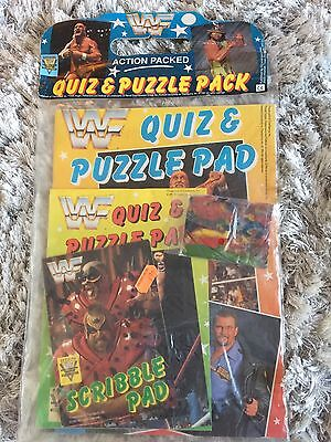 WWF Quiz & Puzzle Pack Retro Sealed Brand New