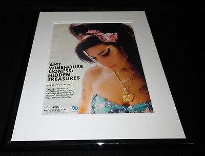 Amy Winehouse Lioness 2011 Framed 11x14 ORIGINAL Advertisement