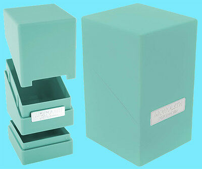 ULTIMATE GUARD MONOLITH TURQUOISE DECK CASE 100+ New Card Dice Tower Storage Box