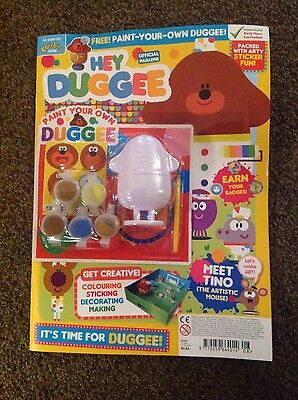 HEY DUGGEE OFFICIAL MAGAZINE ISSUE 8 paint your own DUGGEE